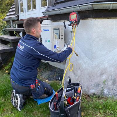 Installation af varmepumpe